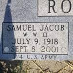 Samuel J. Roush burial marker