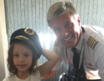 Amelia and the pilot for her SOAR adventure.