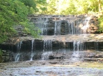 Waterfall at Fallsville Wildlife Area.